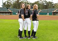 Stanford, CA - January 21, 2016.  Stanford Women's Softball Team shots.