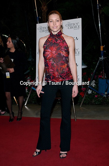 Jessica Biel arriving at the 7th Broadcast Film Critics Ass. Awards at the Beverly Hills Hotel in Los Angeles.  January 11, 2002. BielJessica11.JPG