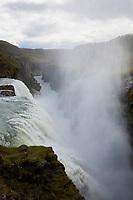 """Gullfoss, """"Goldener Wasserfall"""", Wasserfall des Flusses Hvítá im Haukadalur im Süden von Island. """"Golden Falls"""", waterfall, Iceland"""