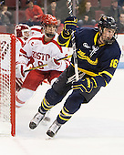 Chris LeBlanc (Merrimack - 16) - The Boston University Terriers defeated the visiting Merrimack College Warriors 4-0 (EN) on Friday, January 29, 2016, at Agganis Arena in Boston, Massachusetts.