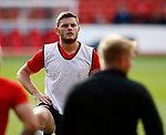 Jack O'Connell of Sheffield Utd warms up during the Championship match at the City Ground Stadium, Nottingham. Picture date 30th September 2017. Picture credit should read: Simon Bellis/Sportimage