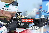 16th March 2019, Ostersund, Sweden; IBU World Championships Biathlon, day 8, mens relay; Johannes Thingens Boe (NOR) at the shooting station