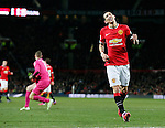 Angel Di Maria of Manchester United reacts to a missed chance - FA Cup Fourth Round replay - Manchester Utd  vs Cambridge Utd - Old Trafford Stadium  - Manchester - England - 03rd February 2015 - Picture Simon Bellis/Sportimage