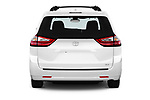 Straight rear view of a 2018 Toyota Sienna XLE 5 Door Mini Van stock images
