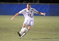 Florida International University men's soccer player Chris Lamarre (12) plays against Nova University on August 26, 2011 at Miami, Florida. FIU won the game 2-0. .