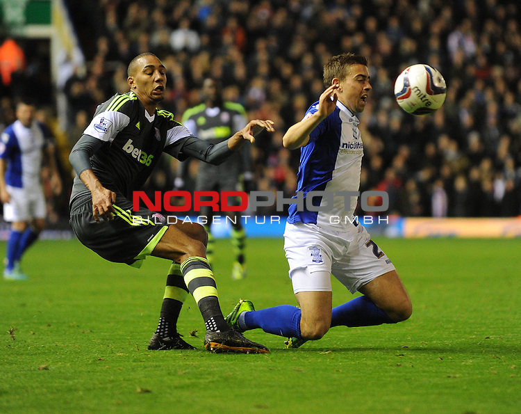 Stoke City's Steven N'Zonzi fouls Birmingham City's Oliver Lee -  -  29/10/2013 - SPORT - FOOTBALL - ST Andrew's - Birmingham - Birmingham City v Stoke City - Capital One Cup - Forth Round<br /> Foto nph / Meredith<br /> <br /> ***** OUT OF UK *****