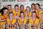 St Joesph's Abbeyfeale who defeated St mary's in the Under 16 Final front row l-r: Sinead Guiney, Sorcha McNulty, Georgina Browne. Back row: Tara Finucane, Leanne Mangan, Eilish Dillon, Saoirse Enright, Sarah McCarthy, Clare Sheehy and Stef Ahern