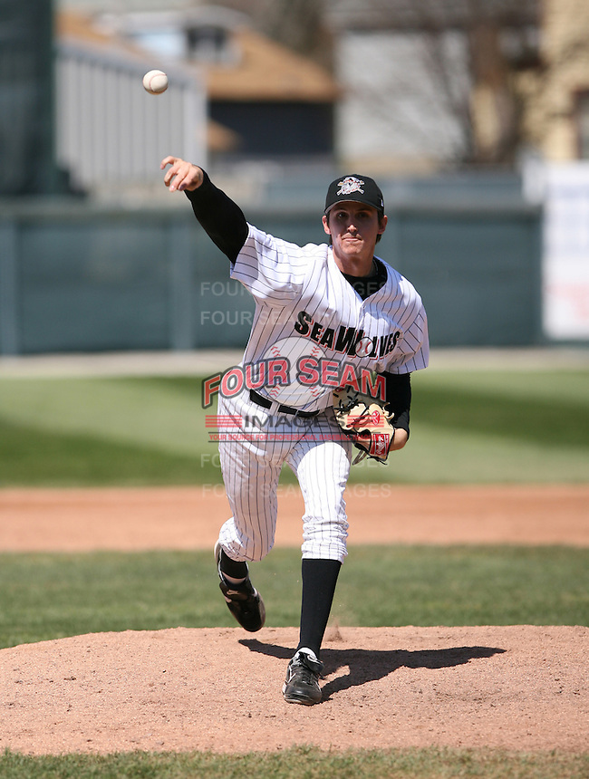 2007:  Andrew Kown of the Erie Seawolves delivers a pitch vs. the Bowie Baysox in Eastern League baseball action.  Photo by Mike Janes/Four Seam Images