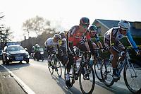 Greg Van Avermaet (BEL/BMC) takes to the front in full finale<br /> <br /> 71st Omloop Het Nieuwsblad 2016