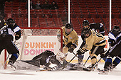 Jake Kauppila (Bentley - 19), Jayson Argue (Bentley - 32), Michael Wilson (Army - 27), Connor Brassard (Bentley - 7), Trevor Fidler (Army - 10) - The Bentley University Falcons defeated the Army West Point Black Knights 3-1 (EN) on Thursday, January 5, 2017, at Fenway Park in Boston, Massachusetts.The Bentley University Falcons defeated the Army West Point Black Knights 3-1 (EN) on Thursday, January 5, 2017, at Fenway Park in Boston, Massachusetts.