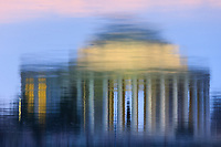 Reflection of the Jefferson Memorial in the Tidal Basin in Washington, DC