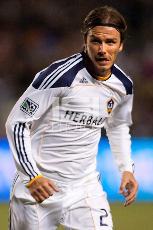 David Beckham (23) moves off the ball. The LA Galaxy defeated the Portland Timbers 3-0 at Home Depot Center stadium in Carson, California on  April  23, 2011....