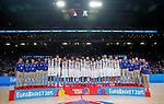 France's national basketball team players and bronze medalists pose for the photo after European championship basketball match for third place between France and Serbia on September 20, 2015 in Lille, France  (credit image & photo: Pedja Milosavljevic / STARSPORT)