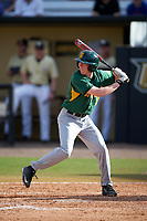 Siena Saints pinch hitter Matt Hamel (6) at bat during a game against the UCF Knights on February 21, 2016 at Jay Bergman Field in Orlando, Florida.  UCF defeated Siena 11-2.  (Mike Janes/Four Seam Images)