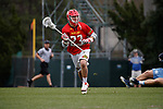 2017 March 25: Adam DiMillo #23 of Maryland Terrapins during a 15-7 win over the North Carolina Tar Heels at Fetzer Field in Chapel Hill, NC.