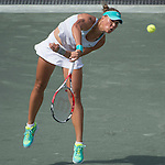 Lucie Hradecka (CZE) defeats Sara Errani (ITA) 6-2, 6-4 at the Family Circle Cup in Charleston, South Carolina on April 10, 2015.