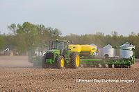 63801-09917 Farmer planting corn Marion Co. IL