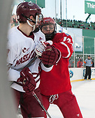 Jake McLaughlin (UMass - 28), Bobo Carpenter (BU - 14) - The Boston University Terriers defeated the University of Massachusetts Minutemen 5-3 on Sunday, January 8, 2017, at Fenway Park in Boston, Massachusetts.The Boston University Terriers defeated the University of Massachusetts Minutemen 5-3 on Sunday, January 8, 2017, at Fenway Park.