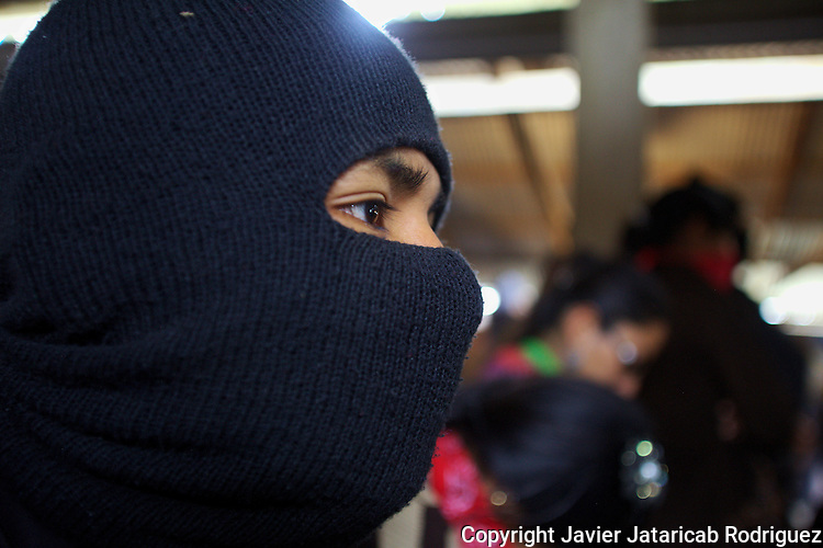 Zapatista rebels at Escuelita in the EZLN stronghold Caracol in La Garrucha, in southern state of Chiapas, January 3, 2014.