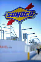 Sunoco sign at the entrance of pit lane..(Note:Image was taken using a tilt/shift lens)