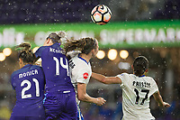 Orlando, FL - Saturday June 03, 2017:  Monica, Alanna Kennedy, Julie King, Amanda Frisbie during a regular season National Women's Soccer League (NWSL) match between the Orlando Pride and the Boston Breakers at Orlando City Stadium.