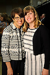 Author Kelly Corrigan with her daughter Claire at the VIP Reception for the Celebration of Reading event at the Hobby Center Thursday  April 21,2016(Dave Rossman Photo)
