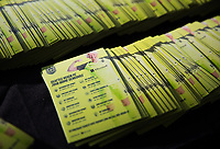 Seattle, WA - Saturday March 24, 2018: magnets, schedule during a regular season National Women's Soccer League (NWSL) match between the Seattle Reign FC and the Washington Spirit at the UW Medicine Pitch at Memorial Stadium.