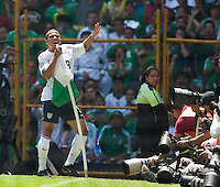 Charlie Davies celebrates his goal. .USA Men's National Team loses to Mexico 2-1, August 12, 2009 at Estadio Azteca, Mexico City, Mexico. .   .