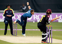 Matt Henry Bowls for Kent during the Royal London One Day Cup game between Kent and Somerset at the St Lawrence Ground, Canterbury, on May 29, 2018