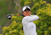 Danielle Kang (USA) in action on the 3rd during Round 2 of the HSBC Womens Champions 2018 at Sentosa Golf Club on the Friday 2nd March 2018.<br /> Picture:  Thos Caffrey / www.golffile.ie<br /> <br /> All photo usage must carry mandatory copyright credit (&copy; Golffile | Thos Caffrey)