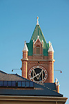 clock tower steeple of main hall on the university of montana campus in missoula, montana