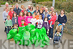 Beaufort Tidy Towns volunteers pictured with some of the rubbish that was collected in their clean up of the area on Saturday morning.....................