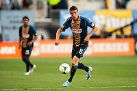 Sebastien Le Toux (11) of the Philadelphia Union. The Philadelphia Union defeated the Columbus Crew 3-0 during a Major League Soccer (MLS) match at PPL Park in Chester, PA, on June 5, 2013.