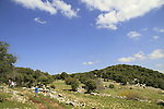 Israel, Upper Galilee, the trail to Hamikdash cave