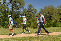Charley Hoffman (USA) and Matt Kuchar (USA) head down 9 during Round 1 of the Valero Texas Open, AT&amp;T Oaks Course, TPC San Antonio, San Antonio, Texas, USA. 4/19/2018.<br /> Picture: Golffile | Ken Murray<br /> <br /> <br /> All photo usage must carry mandatory copyright credit (&copy; Golffile | Ken Murray)