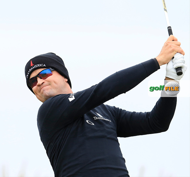 Zach Johnson (USA) tees off the 3rd tee during Saturday's Round 3 of the 145th Open Championship held at Royal Troon Golf Club, Troon, Ayreshire, Scotland. 16th July 2016.<br /> Picture: Eoin Clarke | Golffile<br /> <br /> <br /> All photos usage must carry mandatory copyright credit (&copy; Golffile | Eoin Clarke)