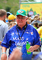 Jun 21, 2015; Bristol, TN, USA; Tommy Johnson Sr , father of NHRA funny car driver Tommy Johnson Jr during the Thunder Valley Nationals at Bristol Dragway. Mandatory Credit: Mark J. Rebilas-