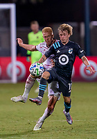 17th July 2020, Orlando, Florida, USA;  Minnesota United midfielder Thomas Chacon (11) receives a pass during the MLS Is Back Tournament between the Real Salt Lake versus Minnesota United FC on July 17, 2020 at the ESPN Wide World of Sports, Orlando FL.