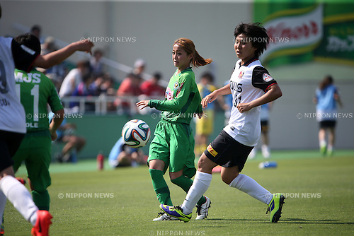 Natsuko Hara (NTV BELEZA), <br /> JUNE 1, 2014 - Football / Soccer : Plenus Nadeshiko League 2014 Regular series between NTV BELEZA 0-2 Urawa Reds LADIES at Ajinomoto Field Nishigaoka Stadium, Tokyo, Japan. (Photo by Jun Tsukida/AFLO SPORT)