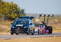 Oct 19, 2019; Ennis, TX, USA; NHRA top fuel driver Doug Kalitta during qualifying for the Fall Nationals at the Texas Motorplex. Mandatory Credit: Mark J. Rebilas-USA TODAY Sports