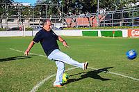 RIO DE JANEIRO, RJ, 10 DE JUNHO DE 2013 -ZICO LAN&Ccedil;A GAME OFICIAL NO RIO DE JANEIRO- Considerado o principal &iacute;dolo da hist&oacute;ria do Clube de Regatas do Flamengo, e um dos maiores da hist&oacute;ria do esporte em todo o mundo, Zico &eacute; um dos poucos esportistas capaz de reunir f&atilde;s de todas as gera&ccedil;&otilde;es. Agora, eles ter&atilde;o a chance de acompanhar mais de perto, literalmente na palma de suas m&atilde;os, como foi o surgimento, constru&ccedil;&atilde;o e consagra&ccedil;&atilde;o de um mito.<br /> Com lan&ccedil;amento confirmado para aparelhos celulares com sistemas operacionais Android e iOS, o aplicativo &quot;Zico - The Official Game&quot; reviver&aacute; de uma maneira bem divertida, interativa e criativa toda a trajet&oacute;ria de Zico no mundo do futebol&acute;&acute;,na G&aacute;vea, zona sul do Rio de Janeiro.FOTO:MARCELO FONSECA/BRAZIL PHOTO PRESS