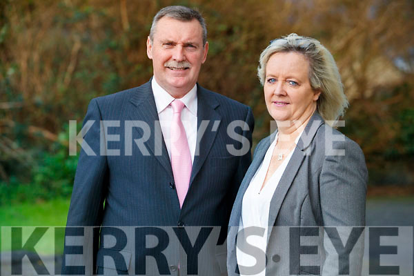 Michael McElligott and his wife Deirdre at Listowel Court on Wednesday.