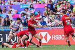 Canada vs France during their Bowl Final match as part of the HSBC Hong Kong Sevens 2018 on 08 April 2018, in Hong Kong, Hong Kong. Photo by Marcio Rodrigo Machado / Power Sport Images