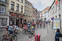 race start: peloton leaving Binche<br /> <br /> Binche-Chimay-Binche 2017 (BEL) 197km<br /> 'M&eacute;morial Frank Vandenbroucke'