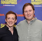 Ethan Slater and Danny Skinner during the Rehearsal Press Preview of the New Broadway  Musical on 'SpongeBob SquarePants'  on October 11, 2017 at the Duke 42nd Street Studios in New York City.