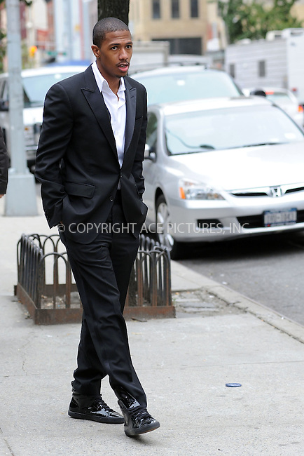 WWW.ACEPIXS.COM . . . . . ....**EXCLUSIVE - ALL ROUNDER**....Singer Nick Cannon was seen walking around midtown Manhattan with a camera crew on October 14 2009 in New York City....Please byline: KRISTIN CALLAHAN - ACEPIXS.COM.. . . . . . ..Ace Pictures, Inc:  ..tel: (212) 243 8787 or (646) 769 0430..e-mail: info@acepixs.com..web: http://www.acepixs.com