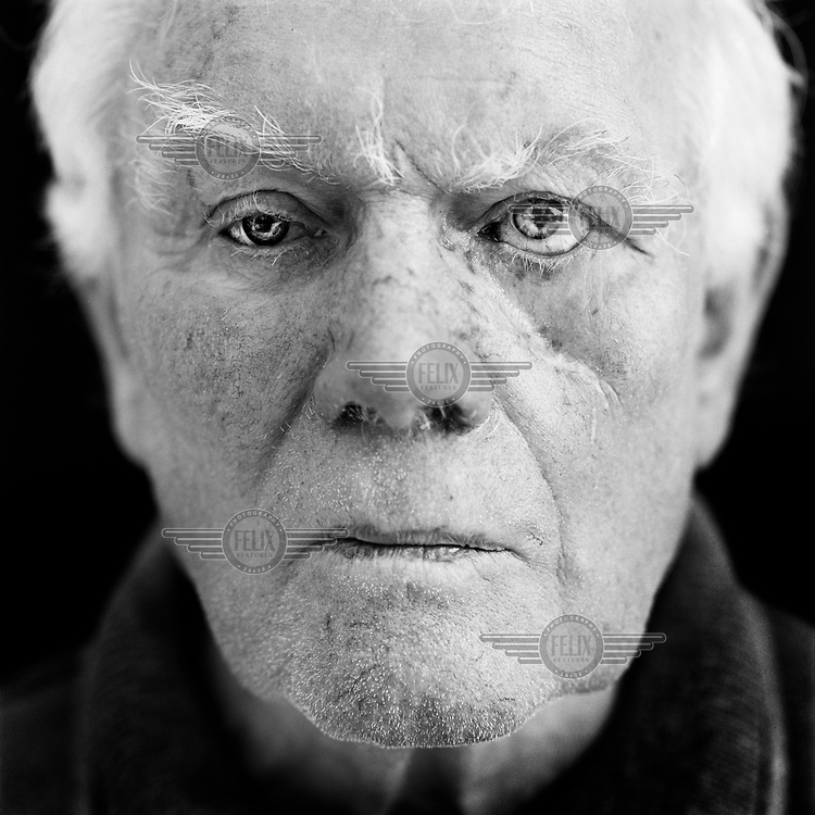 """Hermann Gallhoff (b. Germany, 1932), blinded during the Second World War (WWII). """"'Zzzzzzzz', we heard this in our air-raid shelter just before the bombs would explode somewhere. It was this sound that caused fear. The women screamed. My parents didn't scream and I didn't either. Children follow their parents' behaviour. Duisburg was bombed almost every night for one year. That particular night was already the second time we were in the cellar. When the bomb exploded, the walls of the cellar gave in. My mother was dead on the spot. I know that I was lying on top of a bunk bed but I can't remember anything else. I was unconscious and when I came to, I was blind. Later on I spoke with a British ex-pilot. I felt no resentment towards him and didn't hold him responsible for what had happened to me. He personally didn't choose to do this; he had to execute orders. Ethics disappear in a war. These bombings were officially aimed at factories and logistical targets only. But I can imagine civilians to have been a target. Both sides used this method, it weakens the enemy. It is still used today. The pilot I spoke to was an executor of an order, and executors are not responsible for the war. The ones who start a war, governments and leaders, they are the criminals."""". CHECK with MRM/FNA"""
