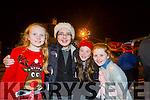 Blathanna Casey, Aine Murphy, Aoife O'Leary and Caitlyn Laide  at the Castleisland Christmas lights Event on Friday