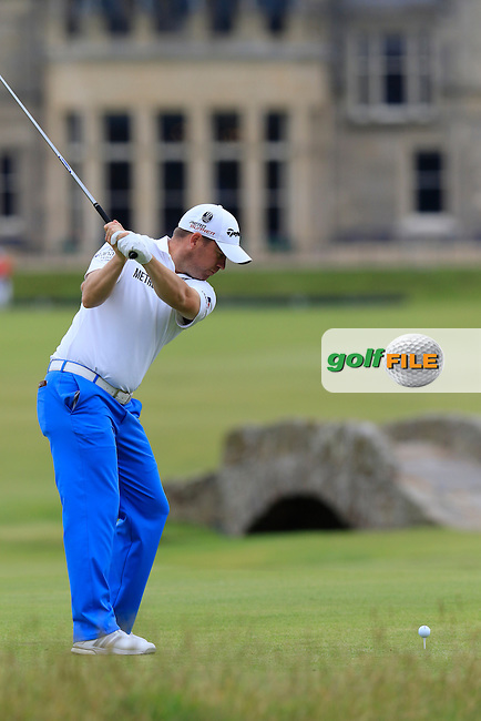 Richie RAMSAY (SCO) tees off the 18th tee during Monday's Final Round of the 144th Open Championship, St Andrews Old Course, St Andrews, Fife, Scotland. 20/07/2015.<br /> Picture Eoin Clarke, www.golffile.ie