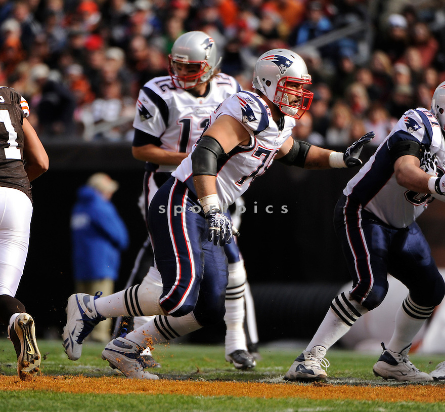 SEBASTIAN VOLLMER, of the New England Patriots, in action during the Patriots game against the Cleveland Browns on November 7, 2010 at Cleveland Browns Stadium in Cleveland, Ohio.  ..The Browns beat the Patriots 34-14...
